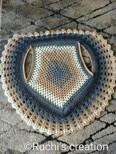 Görümce Çatlatan En Şahane 53 Şal Örgü Modelleri - pionero de la cosmética, alimentación, moda y confección Crochet Circle Vest, Col Crochet, Crochet Vest Pattern, Crochet Circles, Crochet Jacket, Crochet Mandala, Crochet Woman, Crochet Poncho, Crochet Cardigan