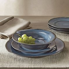 Free 2-day shipping. Buy Better Homes and Gardens Bramley Blue Crackle Glaze Glaze 12 Piece Dinner Set at Walmart.com