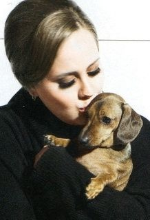 Adele and her dachshund, Louie