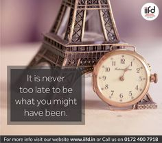 #IIFD #quotes   Its never late to be , What you might have been ! Stop dreaming and make it your reality !!  Join IIFD. Call @+919041766699 and get a perfect suggestion for your career. Visit @ www.iifd.in/  #iifd #best #fashion #designing #institute #chandigarh #mohali #punjab #design #admission #india #fashioncourse #himachal #InteriorDesigning #msc #creative #haryana #textiledesigning