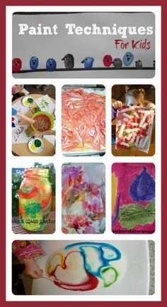 FUN paint techniques for kids - different ways to use paint.