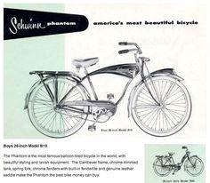Schwinn Phantom from Schwinn's 1955 Bicycle Catalogue
