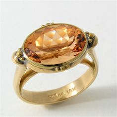 Caleb Meyer Studio Platform Ring with Imperial Topaz;  Archive #1403