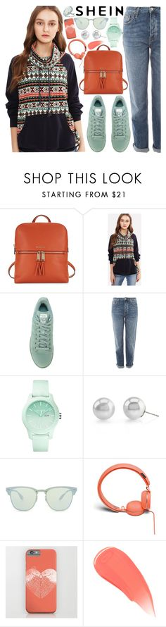 """""""SheIn Tribal Print Sweatshirt!"""" by nvoyce ❤ liked on Polyvore featuring MICHAEL Michael Kors, adidas, Topshop, Lacoste, Ray-Ban, Urbanears, Burberry and Miss Selfridge"""