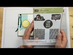 Stampin'Up! I think you're great part 1 NL