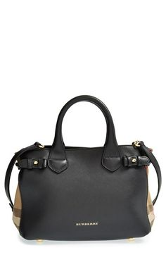 2ed7a3c9fbe Burberry  Small Banner  House Check Leather Tote at Nordstrom.com. Petite  bags