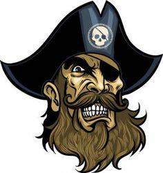 Greedy pirates vector cliparts