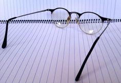 Vintage 1940's style eyeglasses, half - frame glasses, unique spectacles.