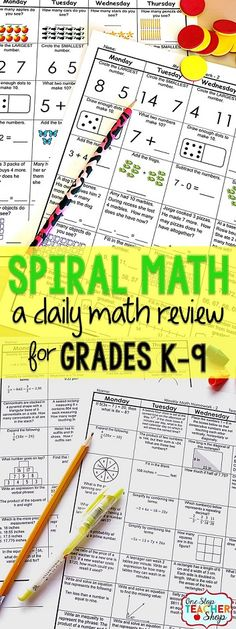 Daily Math spiral review sheets for the Common Core Standards. Covers all Math standards! Use for homework, morning work, warm-ups, or center work! 100% Editable with Answer Keys. Available for K-9.