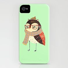 Smart Owl iPhone Case by Ashley Percival - $35.00