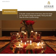 #VastuWednesday In the dark, unused corners of the house, place holy Ganga jal, This needs to change every week. Placing holy water helps the inflow of positive energy. www.ashar.in #AsharGroup #RealEstate #Thane #Housing #Apartments #Residences