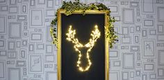 Add some illuminate brilliance to your Christmas decorations by making your own DIY LED deer head Christmas decoration. Simple and low cost decoration. How To Make Christmas Tree, Cone Christmas Trees, Christmas Wall Art, Felt Christmas Ornaments, Diy Christmas Tree, Christmas Gift Guide, Simple Christmas, Nordic Christmas Decorations, Led Diy