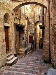 "Medieval Village, Perugia, Italy photo via jennifer Medieval architecture, ""mi piace"" xD Places Around The World, Oh The Places You'll Go, Places To Travel, Places To Visit, Around The Worlds, Medieval Village, Medieval Life, Perugia Italy, Umbria Italy"