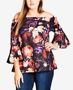 037ff6913c2997 I.n.c. Ruffle-Detail Cold Shoulder Top, Created for Macy's - Purple ...