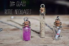 DIY glass bottle necklaces