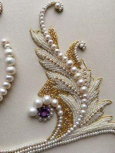 decorative flower brooch embroidery: 14 thousand .- dekorative Blumenbrosche Stickerei: 14 Tausend … decorative flower brooch embroidery: 14 thousand … - Pearl Embroidery, Tambour Embroidery, Couture Embroidery, Beaded Embroidery, Embroidery Patterns, Zardozi Embroidery, Embroidery Thread, Embroidery Blouses, Embroidery Tattoo