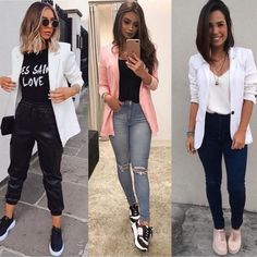 Blazer Outfits Casual, Business Casual Outfits, Cute Casual Outfits, Simple Outfits, Stylish Outfits, Fall Outfits, Teenager Fashion Trends, Look Fashion, Fashion Outfits