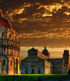 Sunset in Pisa, Italy