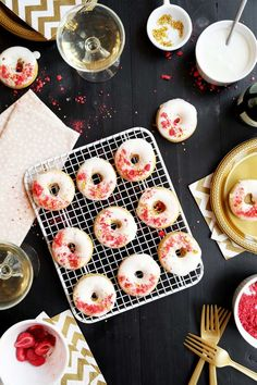Baked Brown Butter Champagne Doughnuts  //  joy the baker