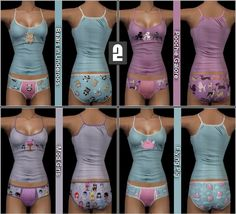 Mod The Sims - Sickeningly Sweet Undies pt. 1 for AF