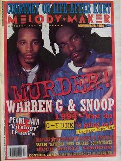 chriswestcoast:  Snoop Dogg & Warren G, Melody Maker Magazine, November 1994