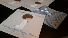 Holy communion cards for my nephew, with 3D painted rosaries