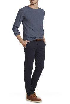 pantalon chino dstrezzed marine - pret a porter pantalon homme