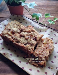 Cuisine Paradise | Singapore Food Blog | Recipes, Reviews And Travel: Chocolate Banana Kugelhop vs Wholemeal Apple Tea Cake - Wholemeal Apple Tea Cake