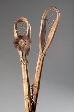 This is a pair of Choctaw Stickball Sticks that the Native Americans used for playing their ball game