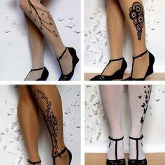 leg tattoo that looks like wood   Tattoo Socks Puts Fake Tattoos On Your Stockings, Doesn't Look Lame ...