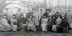 Shooting party at Witley Court in 1894. The Prince of Wales is in the centre of the photo. The couple to the left of him are Lady Rachel Dudley (with the fur collar) and the 2nd Earl of Dudley (with the white cap)
