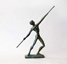 Javelin Thrower Bronze Athlete Ancient Greece Olympic Games