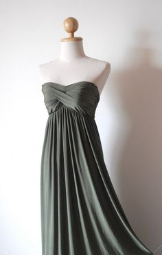 Elegant Green Evening Dress by pinksandcloset on Etsy, $55.00