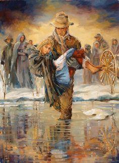 Greater Love  Greater Love painting.  Greater love hath no man than this, that a man lay down his life for his friends. John 15:13