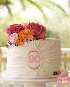 ruched fabric cake