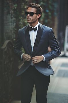 Classic tuxedo. Handsome model. Win, win!
