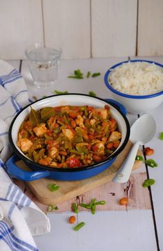 Bean Recipes, Pork Recipes, Gourmet Recipes, Chicken Recipes, Quick Healthy Meals, Easy Meals, Recipes With Kidney Beans, Rabbit Food, Pork Dishes
