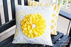 Super cute flower pillow tutorial from @A Pumpkin & A Princess :) She made hers out of @HGTV HOME fabric