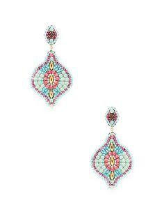 Purple & Turquoise Drop Earrings