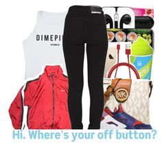 """""""Nike ."""" by beautifulme078 ❤ liked on Polyvore featuring Victoria's Secret, PhunkeeTree, MICHAEL Michael Kors, NIKE and Dr. Denim"""