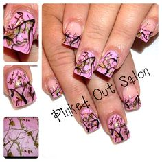 Real tree pink camo!!  For all the girly girl hunters out there. Check out Pinked Out Salon on FB!!