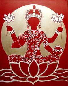 my-hindi-alma: The Goddess Lakshmi.