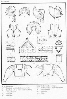 Folk Clothing, Clothing Items, Folk Costume, Costumes, Swedish Embroidery, Swedish Fashion, Costume Patterns, Period Outfit, Historical Costume