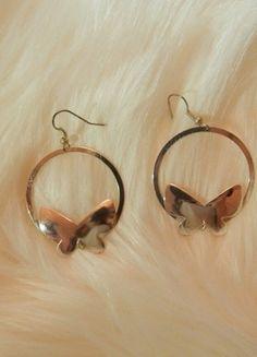 Kupuj mé předměty na #vinted http://www.vinted.cz/doplnky/nausnice/12393171-nausnice-motyl-kruhy