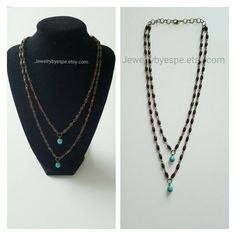 Hey, I found this really awesome Etsy listing at https://www.etsy.com/listing/263828600/brown-necklace-turquoise-necklace