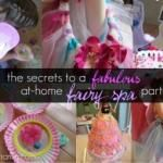 more secrets to an awesome fairy party: flower napkin rings