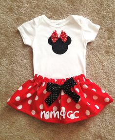 Minnie Mouse Red Dress first Birthday party princess Pink by MM4CC, $29.50
