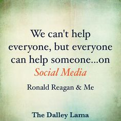 We can always do more--on social media--to help others! #domore #makeadifference