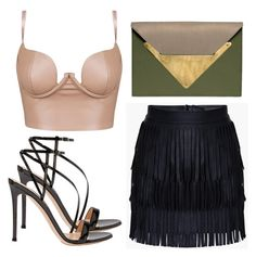 """Untitled #3190"" by evalentina92 ❤ liked on Polyvore featuring Dareen Hakim and Gianvito Rossi"