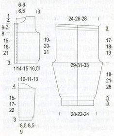 Выкройка детской кофточки и штанишек. Размеры: на 1-3(6-9)12-15 месяцев